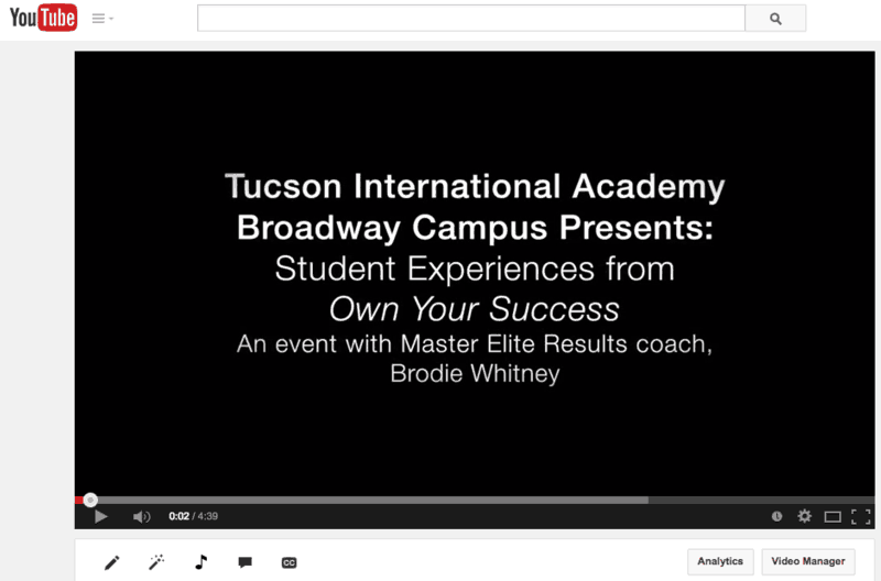 importance of student activities at TIA event