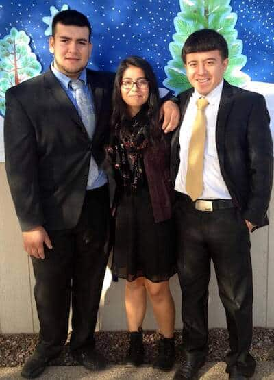 Seniors Dressed for Success - Armando Valenzuela, Julianna Amarillas, David Figueroa