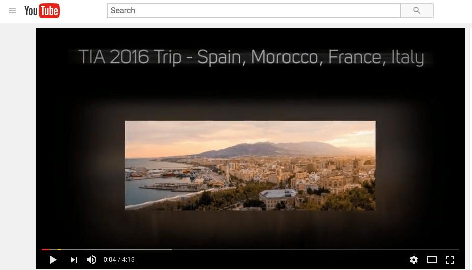Video of TIA 2016 summer trip to Europe