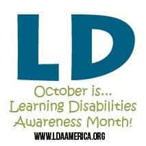 October is Learning Disabilities Month