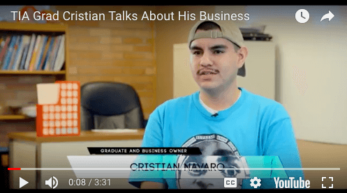 TIA Grad Cristian Navaro Talks About Owning A Business